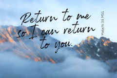 Return to me so I can return to you