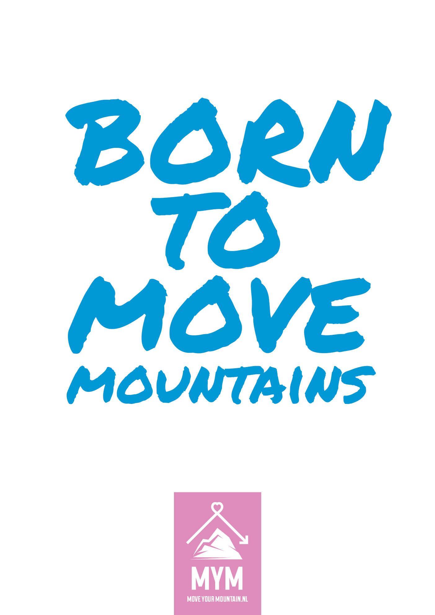Born to move (blauw)