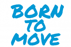 Born to move (blauw)