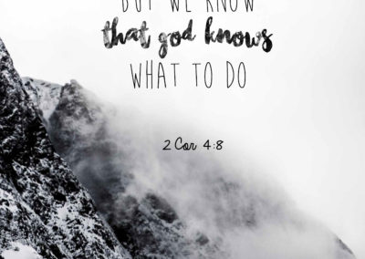 God knows what to do
